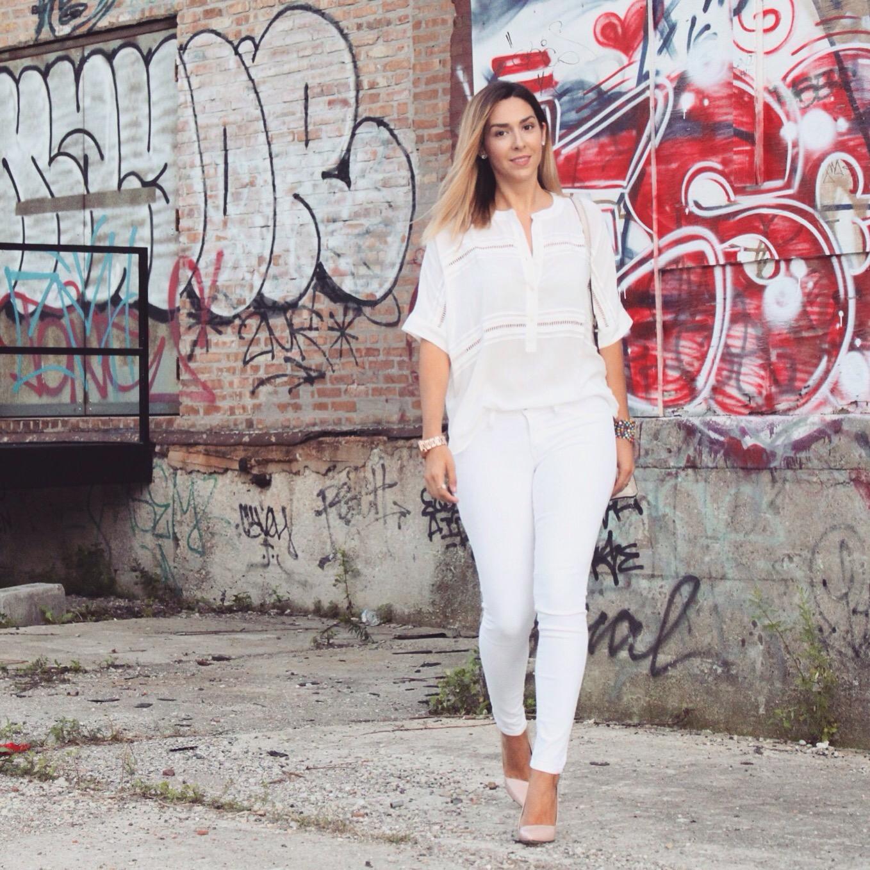 LOFT white blouse