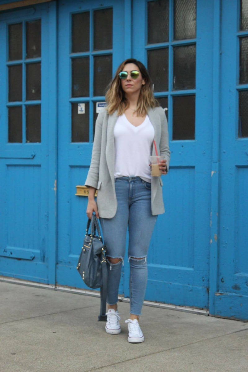 Oops I Wore It Again: Perfect Gray Blazer For Winter And Spring