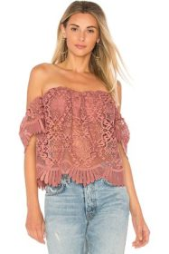 2. Lovers and Friends Beach Lace Top